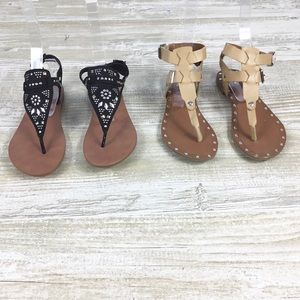 NWOB 2 Pairs of Sandals Mossimo
